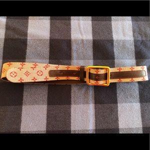 Louis Vuitton Cranberry Monogram Belt